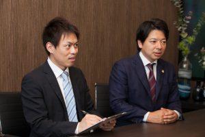 福岡交通事故弁護士相談中イメージ